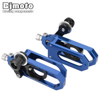 BJMOTO CNC Motorcycle YZF R6 Chain Adjusters Tensioners Catena with Spools For Yamaha YZF R6 YZFR6 2008 2009 2010 2011 2012 2015