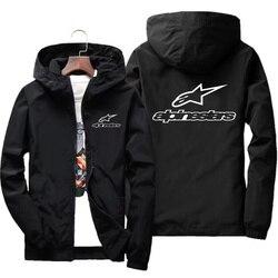 2020 primavera e verão nova alta montanha estrela jaqueta masculina rua com capuz blusão zíper fino jaqueta masculina casual 7xl