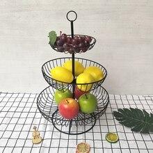 3 Tier Black Fruit Basket Holder Decorative Tabletop Bowl Stand For Vegetables Snacks Household Products