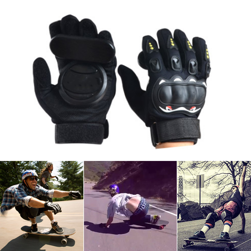 Racing Brakes Black Red Skateboard Gloves Slider Gloves 3 POM Professional Non Slip Longboard Gloves Protect Hand
