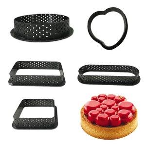 Tart Форма кольцо мусс круг резак для кухни украшения французский десерт DIY Форма для торта перфорированный антипригарный инструмент для тор...