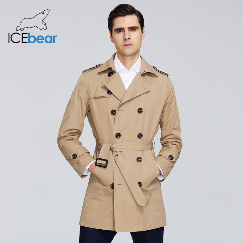 ICEbear 2020 New men's trench coat high-quality men's long lapel windbreakers men's brand clothing MWF20709D title=