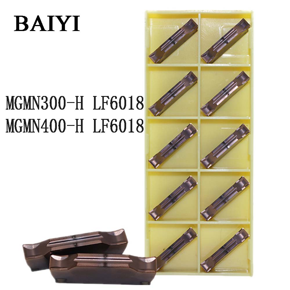 10pcs MGMN300-H LF6018 MGMN400-H LF6018 CNC Cutting Tools For MGEHR Holder Machining Stainless Steel Inserts MGMN300/400 Tools
