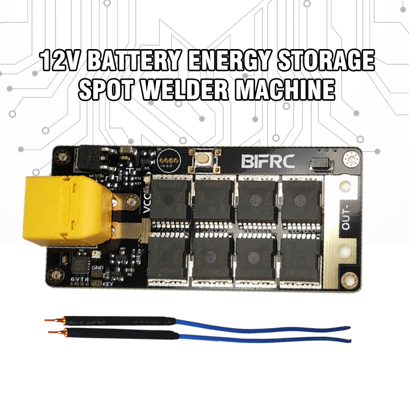 DIY 12V Battery Portable PCB Board Electronic Energy Storage Spot Welder Machine XT60 For 18650/26650 Spot Welders Pens 2Pcs New