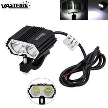 1PCS 5000 lumen 30W Motorcycle Spot Light 2x XM-L T6 LED Driving Headlight Fog Lamp