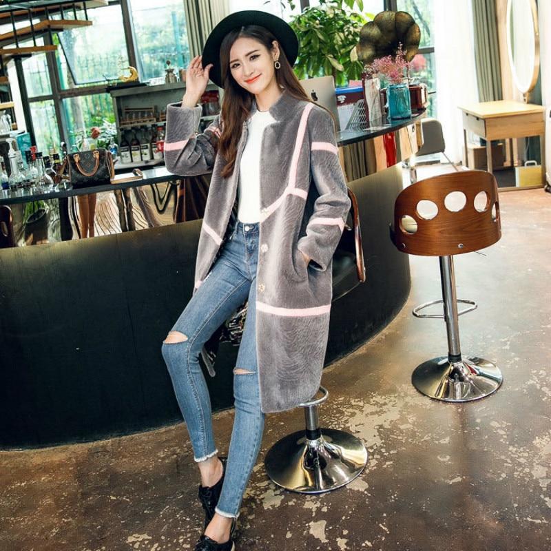 Autumn Winter Coat Women Clothes 2020 Real Fur Coat Wool Jacket Korean Vintage Sheep Shearling Women Tops Abrigo Mujer Y8106