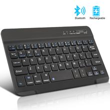Мини Беспроводная клавиатура Bluetooth клавиатура для ipad телефон планшет резиновые брелки перезаряжаемая клавиатура для Android, IOS, windows