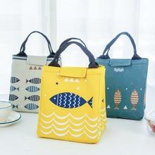 New Creative Cute Fish Thick Aluminum Foil Insulation Bag Heat Preservation Lunch Fashion Women Handbag Waterproof Storage Bags