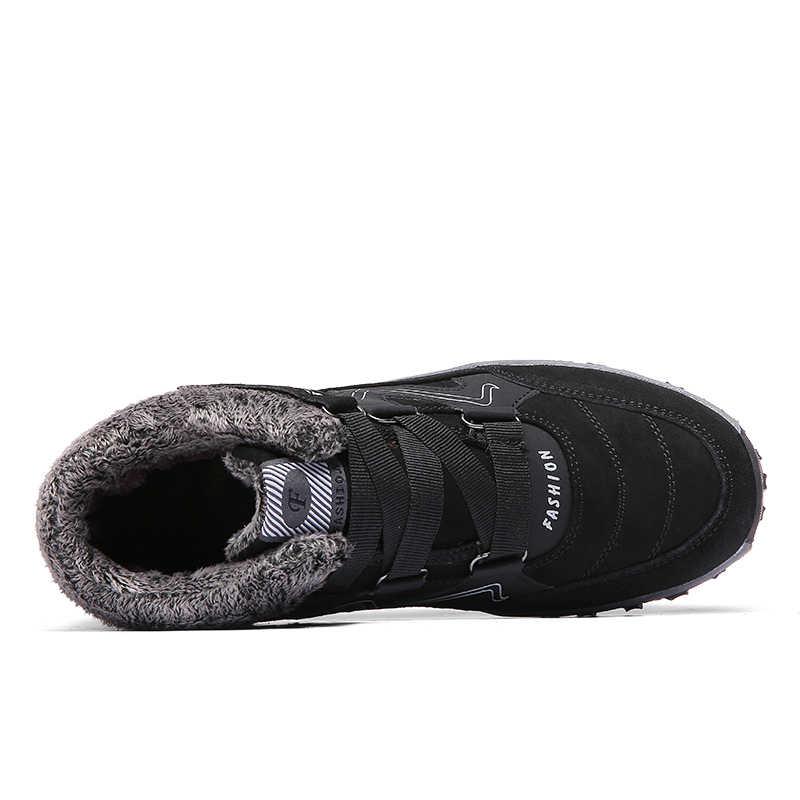 Kadın yarım çizmeler 2019 Yeni Kadın Ile Sıcak Tutmak Kürk Açık Su Geçirmez Kar Botları Ayakkabı Kısa Peluş Ayakkabı Botas Mujer