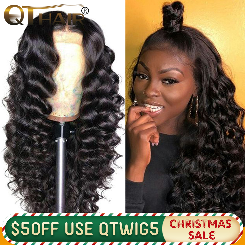 180% 360 Lace Frontal Wig Pre Plucked With Baby Hair Loose Deep Wave 13x4 Lace Front Human Hair Wigs Remy QT Hair 13x6 Wig