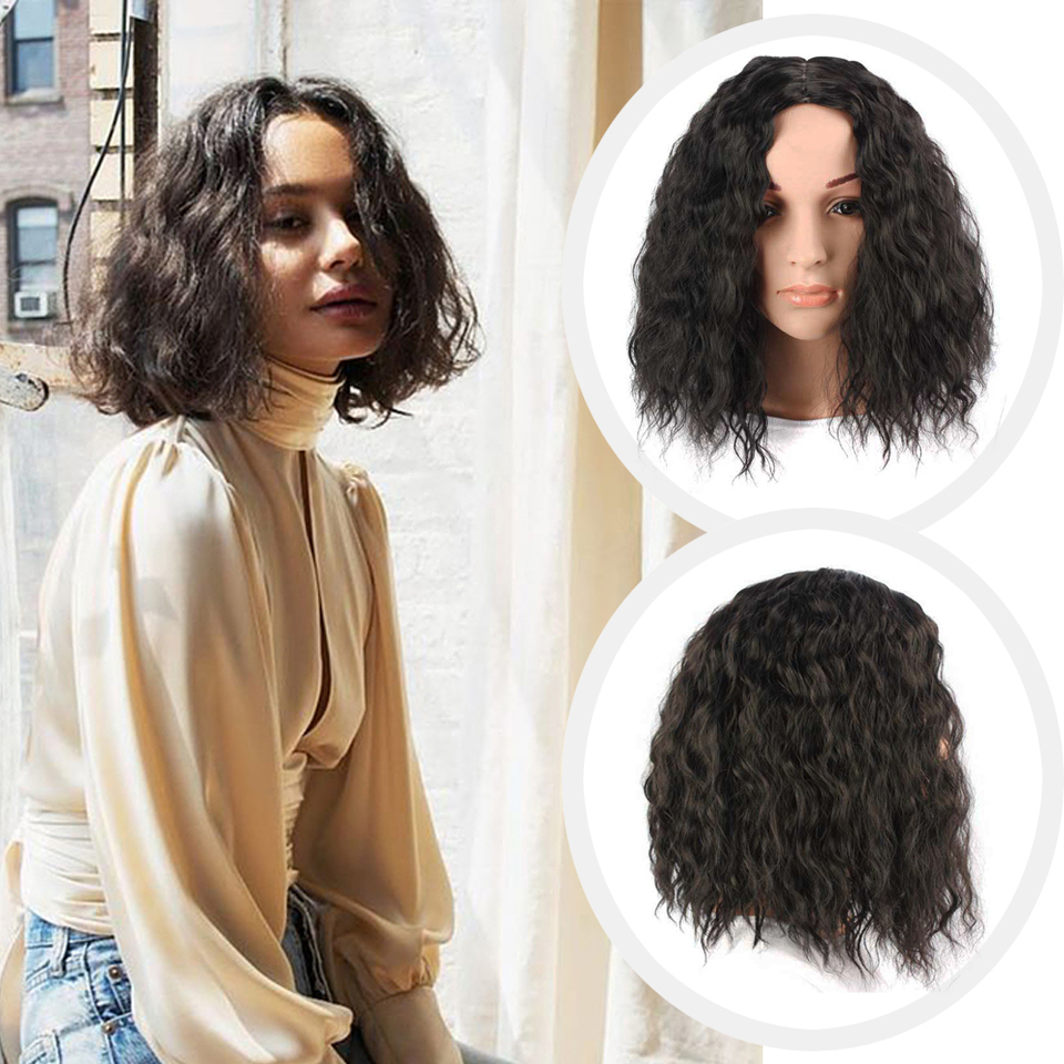 Kinky Curly Bob Wig African American Bob Wigs Short Shoulder Length Kinky Straight Synthetic Wigs For Black Women Synthetic None Lace Wigs Aliexpress
