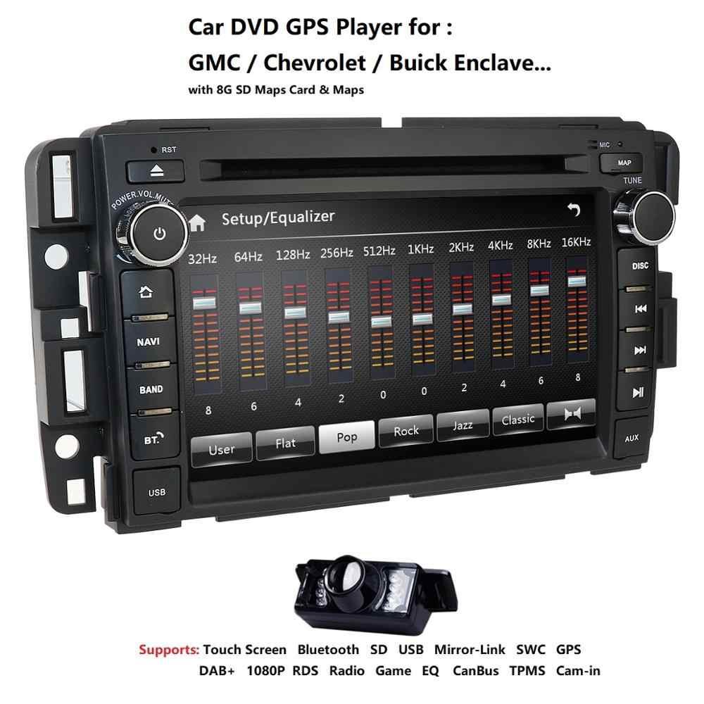 カーステレオ DVD プレーヤー Gmc シボレー silverado 1500 2012 Gmc シエラ 2011 2010 7 ''Double 喧騒ダッシュタッチスクリーン Fm /Am ラジオ GPS