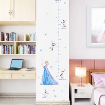Cartoon Princess Elsa Wall Stickers for Kids Rooms Girls Bedroom Poster Vinyl DIY Mural Art Adesivo de parede Decal Baby Nursery 22