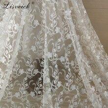 1yard Beautiful 3D three-dimensional printed embroidery fabric Fashion wedding mesh dress accessories diy craft