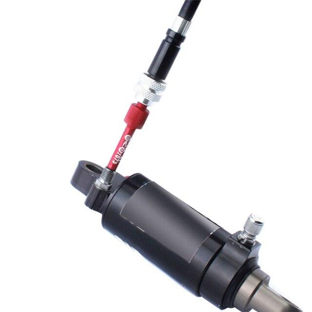 دراجة متعددة الوظائف الخلفية الصفراوية امتصاص الصدمات إبرة وجع صمام الأساسية الغاز الدراجة سبائك الألومنيوم تضخيم الختم