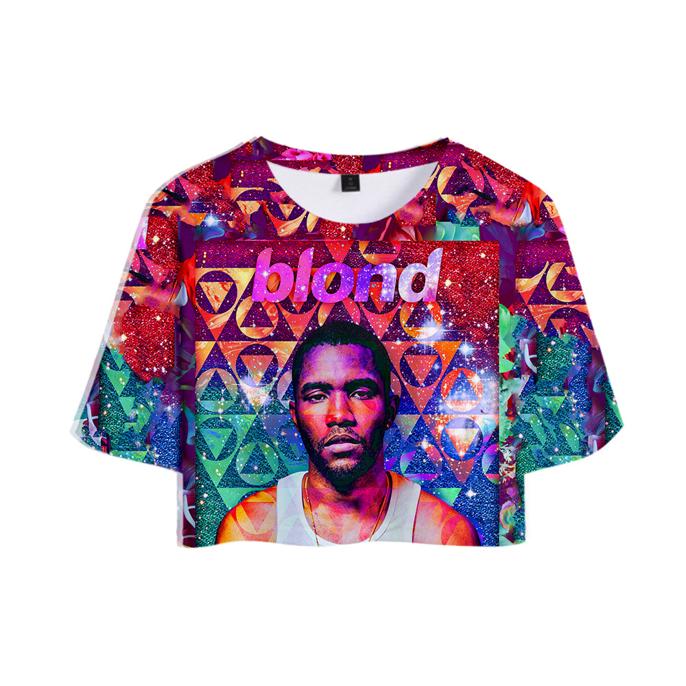 Hip Hop Group Odd Future R&B singer Frank Ocean <font><b>3D</b></font> Tops Girl Short <font><b>t</b></font>-<font><b>shirt</b></font> Women <font><b>Sexy</b></font> Sale Casual <font><b>T</b></font> <font><b>shirt</b></font> Clothes image