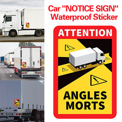 Dead Angles On Heavy Vehicles - Waterproof Sticker L.170 X H.250 France Notice Singe For People Safe Daily Using Transport Ban