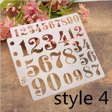Decorative-Painting Stencils Template Number Engraving-Album Scrapbook Layers Coloring