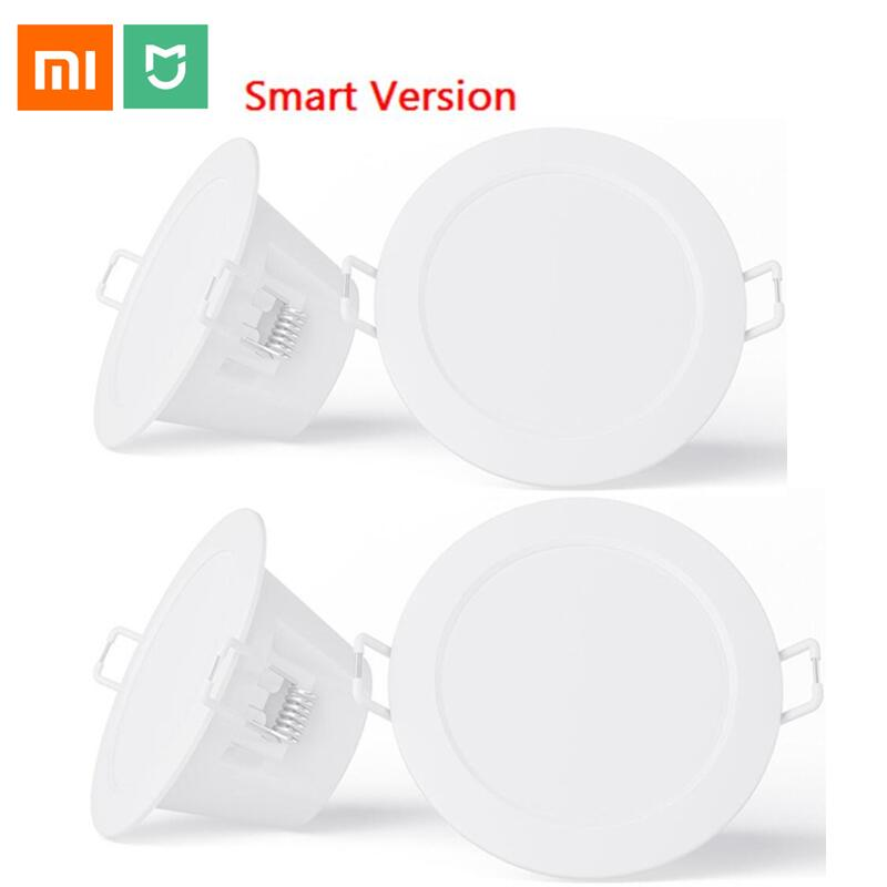 New xiaomi mijia smart downlight work with mi home app smart remote control white & warm light Embedded Ceiling LED lamp|Smart Remote Control| |  - title=