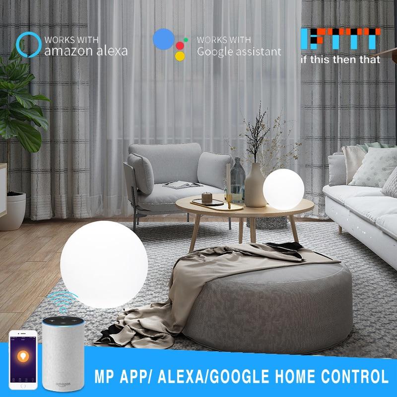 D25/30CM Smart WiFi Light Ball Cellphone APP Control RGB Magic Light Sphere Lamp Compatible With Google Home Alexa Drop Shipping