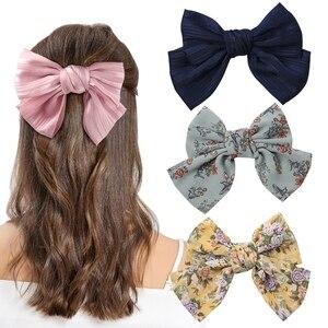 Женские атласные заколки для волос, большие атласные заколки с бантом, модные аксессуары для волос