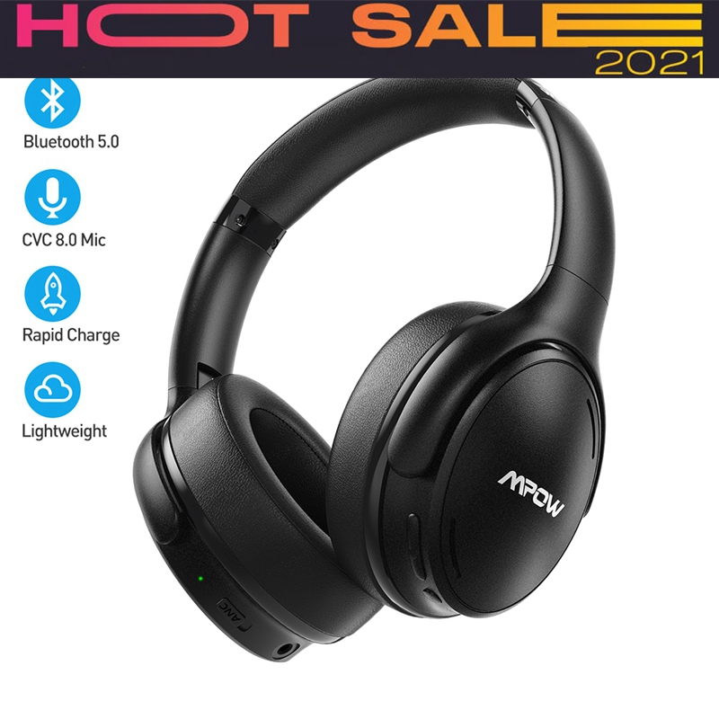 H19 Ipo Wireless Bluetooth Headphones Anc Active Noise Cancelling Headset With Carrying Bag For Iphone Galaxy Phones