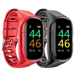 2020 m1 mais novo ai relógio inteligente monitor de freqüência cardíaca pulseira inteligente longo tempo de espera relógio esporte masculino com um tws bluetooth fone ouvido