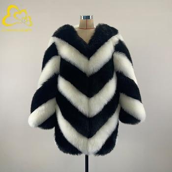 цена utumn Winter Faux Fur Coat Women Warm Casual Thick  Ladies Fox Fur Jacket Female Long Coat Plus Size Outwear Plush Overcoat онлайн в 2017 году