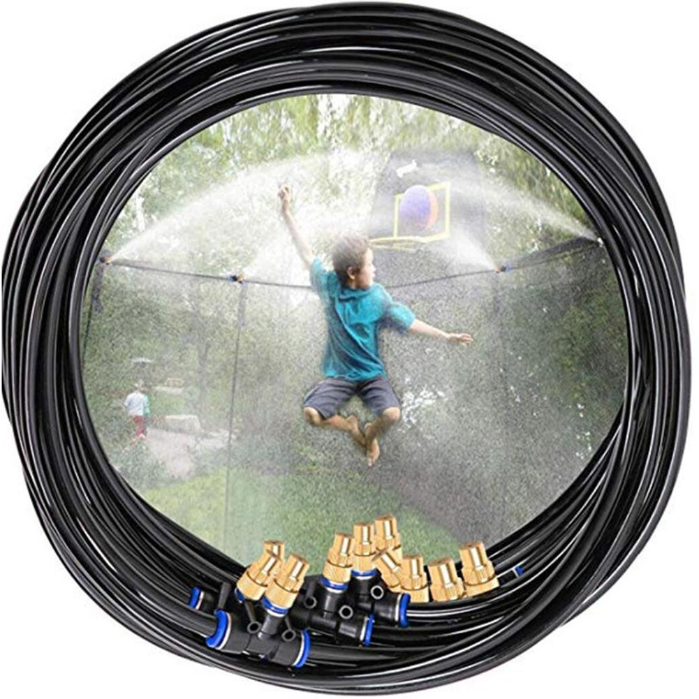 Kids Waterpark Trampoline Sprinkler Multifunctional PE Tube Atomization Cooling Outdoor Garden Water Toy Trampoline Accessories