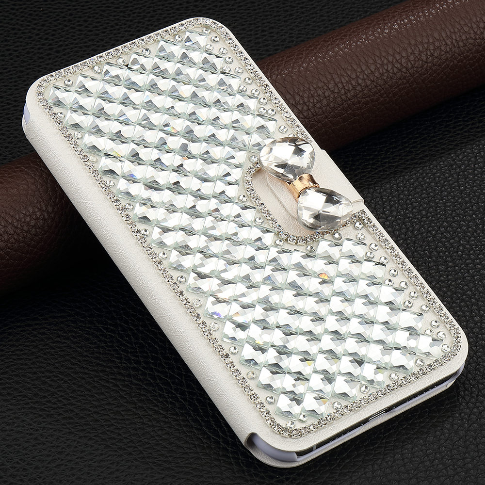 Pepmune Luxury <font><b>Diamond</b></font> Bling Glitter Leather <font><b>Case</b></font> For <font><b>Huawei</b></font> <font><b>P20</b></font> Lite Mate 20 Pro Girl Cute Flip Stand Wallet Holder Cover Coque image