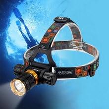 5000 Lumens Diving Headlight XML T6 LED Flashlight Forehead Waterproof Torch Underwater Head Lamp Headlamp 18650 Battery Lantern 8000 lumens 5 led headlamp xml t6 powerful head lamp led headlight with 18650 battery flashlight head lights for hiking