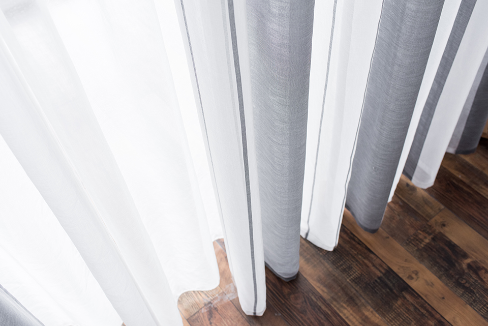 Linen Window Sheer Curtains for the Kitchen Living room Curtains Bedroom Modern Striped Tulle Voile Curtains for Window Drapes