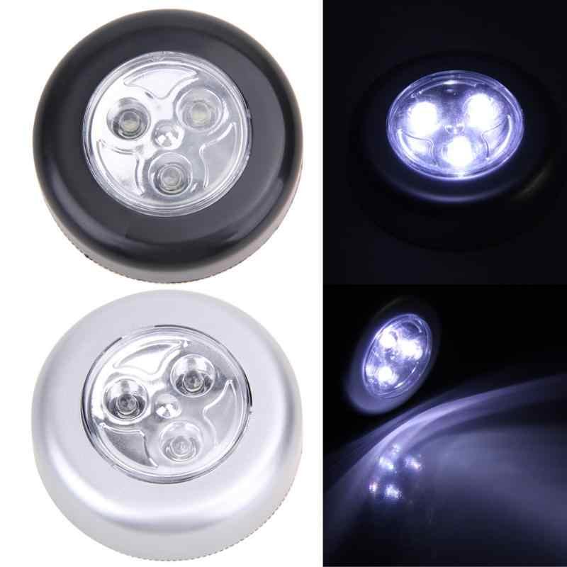 3 色 led 蛇口ミニタッチライトワードライトバッテリ駆動ラウンドコードレス車キャビネットライトメンテナンスライト
