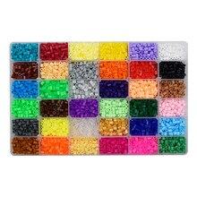 24/72 cores caixa conjunto hama contas de brinquedo 2.6/5mm perler educacional crianças 3d quebra-cabeças diy brinquedos fusíveis contas pegboard folhas papel engomar