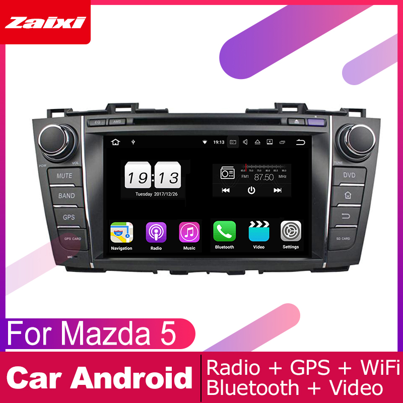 ZaiXi 8 Core Android With Car DVD player GPS navigation 2 DIN radio For Mazda <font><b>5</b></font> 2010~2018 multimedia tape radio image