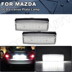 2PCS Xenon White Error Free LED License Plate Lights For Mazda Miata MX5 2006 2007 2008 2009 2010 2011 2012 2013 2014 2015