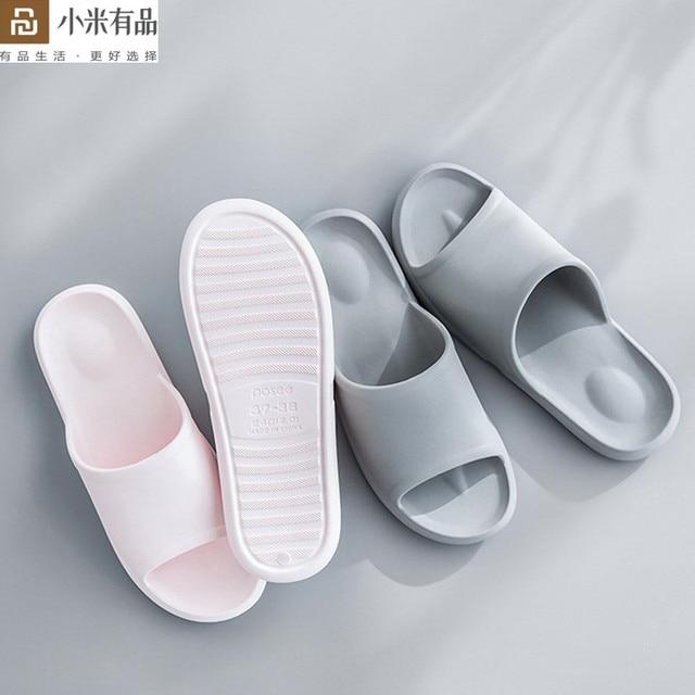 Youpin Leisure บ้านผู้ชายผู้หญิงรองเท้าแตะป้องกันฝุ่นกันลื่น Soft ชุดว่ายน้ำด้านล่าง Flip Flop น้ำหนักเบา Sandal สำหรับ Xiaomi