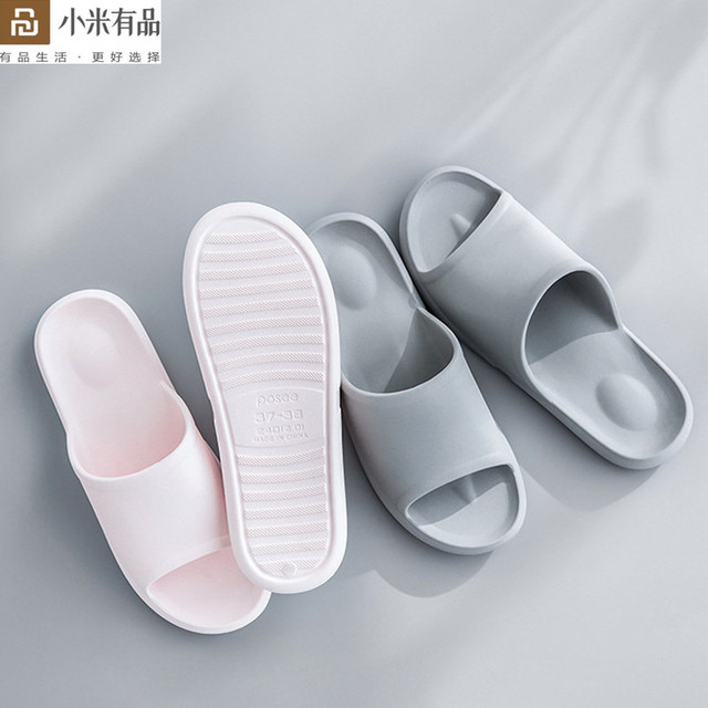 Youpin eğlence banyo ev erkek kadın terlik toz geçirmez kaymaz yumuşak alt banyo Flip Flop hafif Sandal xiaomi için