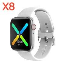 Personalizado papel de parede x8 dial chamada masculino esporte relógio inteligente 1.54 polegada toque completo freqüência cardíaca sono rastreador feminino smartwatch para ios
