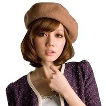 NIBESSER, теплая шерстяная зимняя шапка, одноцветная, женская, для девочек, берет, женский, французский, черный, белый, серый, розовый, Boinas De Mujer