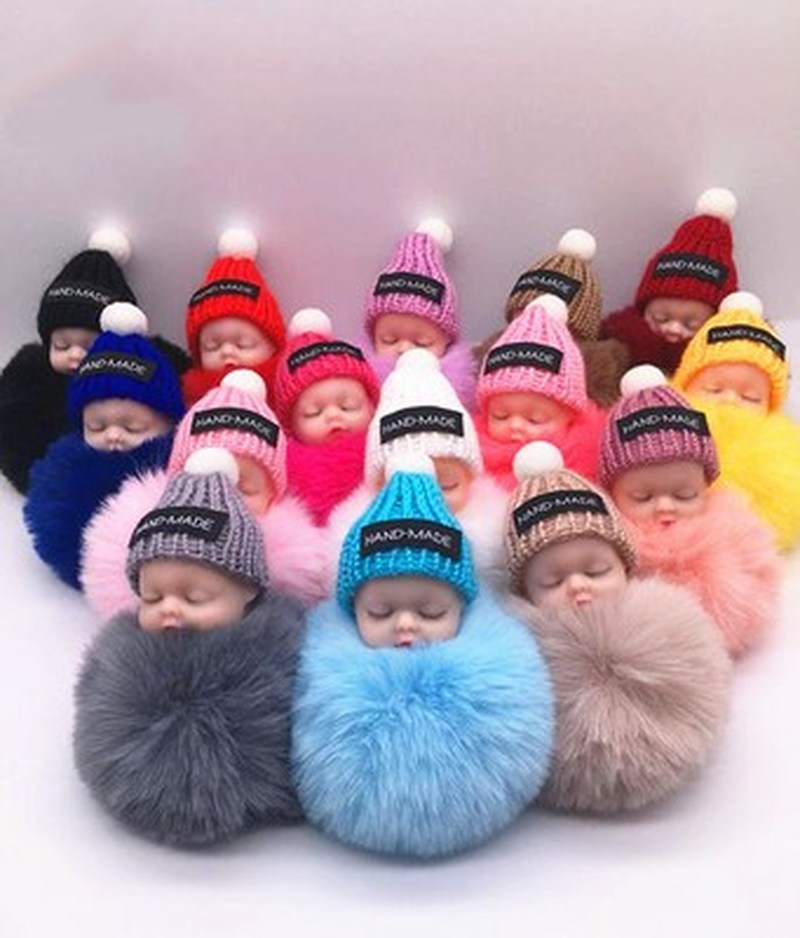 8cm Cute 16 Styles Baby Plush Toys Keychain Soft Stuffed Dolls Toy for Kids Children Baby Girls Christmas Gifts