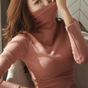 Womens Sweaters 2020 Autumn Winter Tops Turtleneck Sweater Women Black White Thin Pullover Jumper Knitted Sweater Pull Femme New turtleneck fashion patchwork knitted sweater women pullovers contrast color streetwear sweaters tops autumn winter pull femme