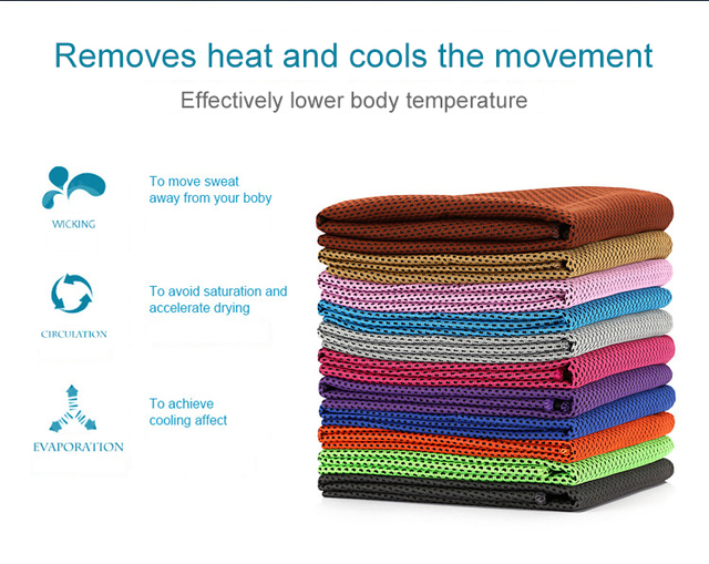 Sport Icing Cold Towel Quicky-dry Instant Chilly Cooling FACE Towel Golf Gym Fitness Excerise Bench Towel For Men Women