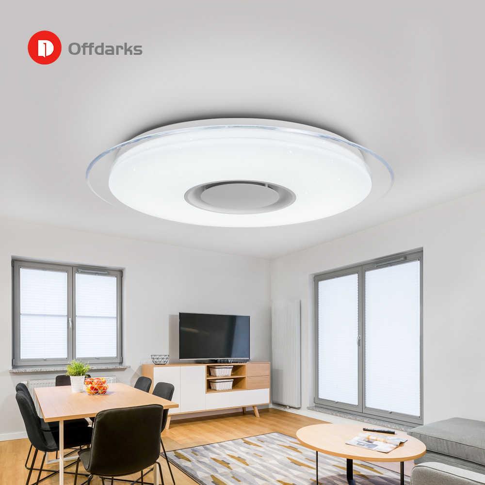 YSN Offdarks современный светодиодный потолочный светильник Bluetooth Динамик с пультом дистанционного управления Управление приложение Гостиная Спальня потолочный светильник для кухни