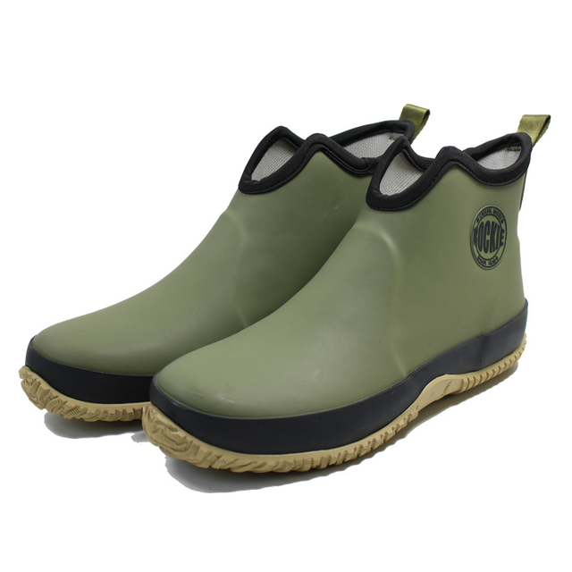 Men's Slip-on Rain Boots Waterproof Rubber Ankle Boots Outdoor Casual Fishing Boots Students Rain Shoes Male Platform Booties 1