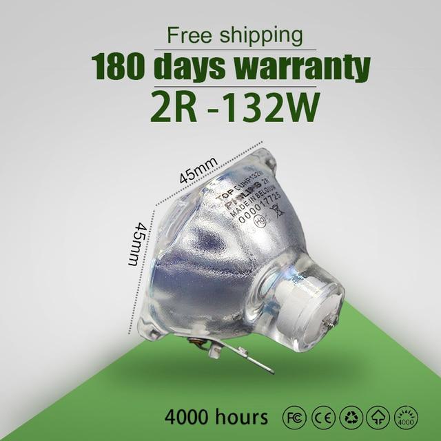 מכירה לוהטת שלב אור 132w 120w 2R מתכת הליד מנורת נע קרן מנורת 132w 120w קרן פלטינה מתכת הלוגן מנורות זרקור
