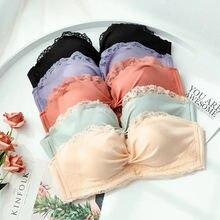 Женское сексуальное кружевное белье без бретелек беспроводное