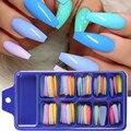 100 шт., накладные ногти для наращивания, формы, Французский акриловый лак для ногтей, гель для ногтей, лак для ногтей, искусственные наборы дл...