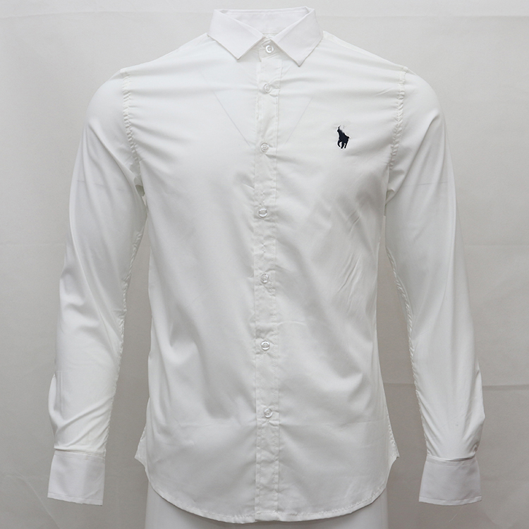 Dress Shirts Chemise Ralph Long-Sleeve Casual Fashion Pony-Brand Cotton Camisa Small