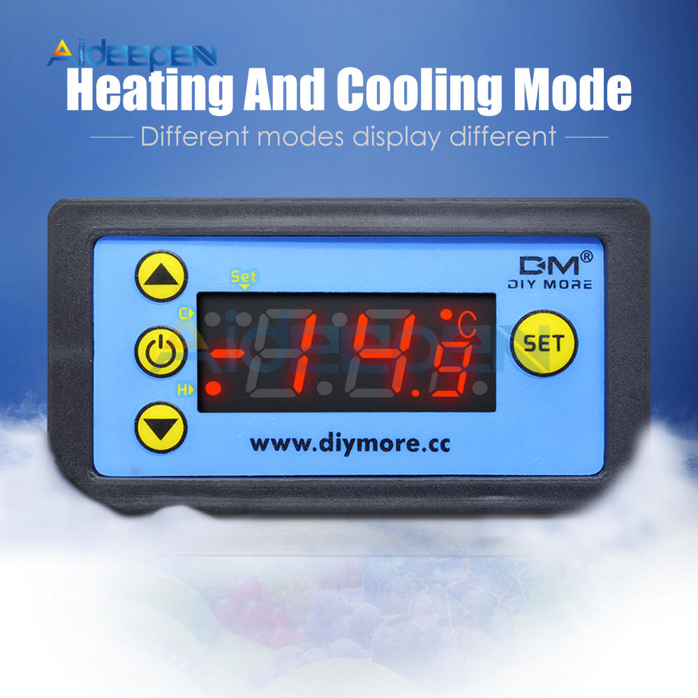 H9c0607b44ad44866b2e7ddaafdec825cA W3230 AC 110V-220V DC12V 24V Digital Thermostat Temperature Controller Regulator Heating Cooling Control Instruments LED Display